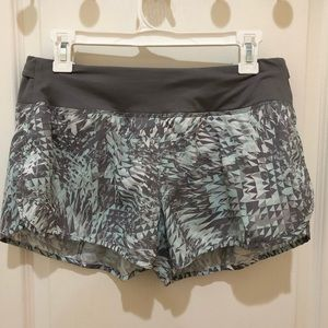 Nike Dri-Fit Running Shorts Teal and Grey M